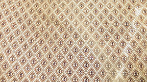 Gold-Brown-Diamond-Print-Damask-Upholstery-Fabric-F651