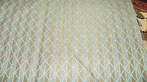 Blue-Taupe-Diamond-Print-Damask-Upholstery-Fabric-1-Yard-R156