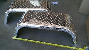 PAIR of Aluminum Trailer Fenders Single Axle 8
