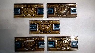 5 fireplace Tiles.   .stock item tiles Y0011