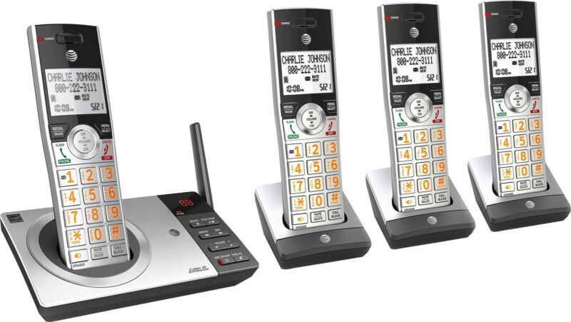 AT&T - CL82407 DECT 6.0 Expandable Cordless Phone System with Digital Answeri...