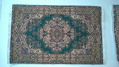 Miniatures Dollhouse Carpet Furniture Rug Oriental Rug    G  Dark Green / Gold for sale  Newcastle