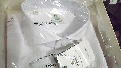 Borrelli Naples Real Tailoring 1° Line Shirt 41 Cotton Handmade sh1926
