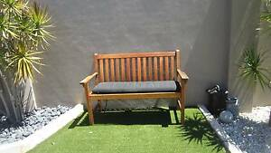 Wood garden bench with cushion, good condition Woodlands Stirling Area Preview