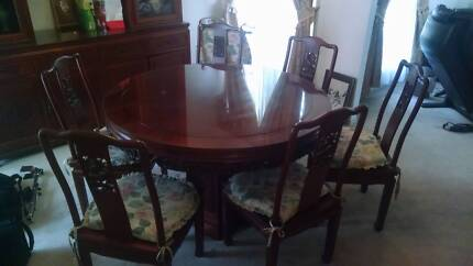Rosewood Dining Set. Table and six chairs Eight Mile Plains Brisbane South West Preview