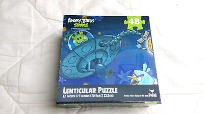 "Angry Bird Lenticular Puzzle 48 pieces 3 D by Rovio Entertainment Ltd 12""X 3"""
