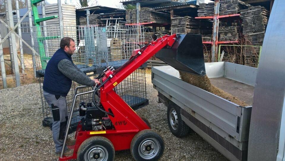 Mini Hoflader - Winterdienst Schnee räumen Landwirte Gärtnereien in Kühbach