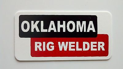 3 - Oklahoma Rig Welder Roughneck Hard Hat Oil Field Tool Box Helmet Sticker