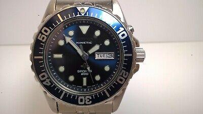 Very Rare Blue Seiko SKJ031P 5M43-0A40 Sports 200 Kinetic Diver; Orig. (Round Blue 031)