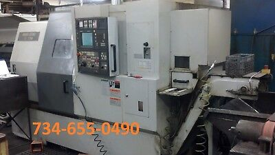 2002 Mori Seiki Zl200 Smc Cnc Lathe Sub Spindle Live Tooling - Video