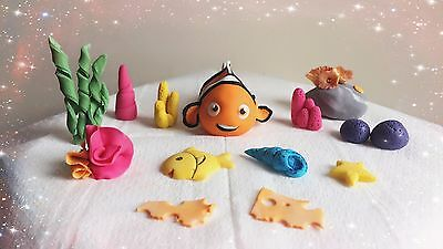 Finding NEMO Handmade Edible Cake Topper Birthday Baby shower Decoration set](Finding Nemo Baby Shower)