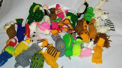 "IMPERIAL CAT ORGANIC CATNIP FILLED MINI 2"" KNIT ASSORTED ANIMALS TOY LOT OF TWO"