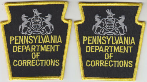 Pennsylvania Department of Corrections 2 patches/1 pair PA DOC Dept Penn.