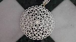 Chic 1950s Long Lacy Vintage White Enamel Necklace New Lambton Newcastle Area Preview