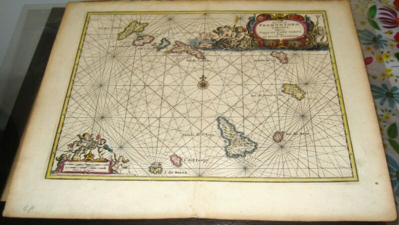 RARE 1668 Map CAPE VERDE ISLAND by VAN MUERS