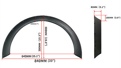 """4PCS Universal Car Fender Wheel Wide Arches Flare Extension ABS 80mm(3.1"""") JDM"""