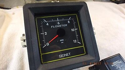 Signet P58440 0-120 Gpm Flow Meter And 12 Vdc Power Supply