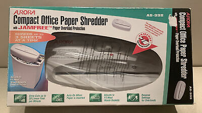 Aurora Compact Office Paper Shredder Model As-33s. New In Box.