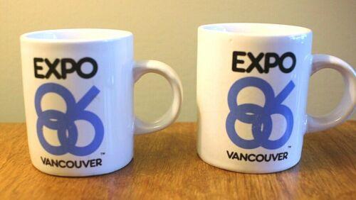 Vintage Expo 86 Vancouver Vintage Ceramic Demitasse Espresso Coffee Mug Cup