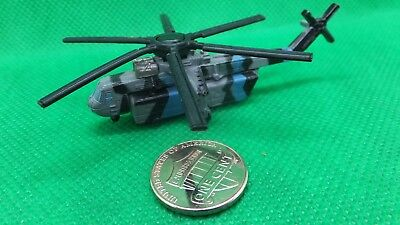 MILITARY MICRO MACHINES  SKY CRANE SKYCRANE CH54 CH-54  HELICOPTER BLUE - Sky Crane