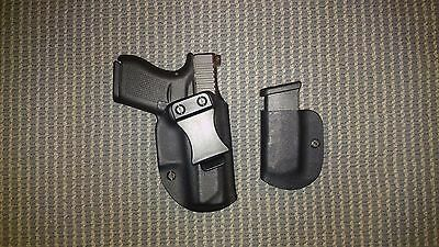 Glock 43  KYDEX HOLSTER an Mag Carrier Black Right Hand IWB Best Setup  (Best Glock 43 Iwb Holster)