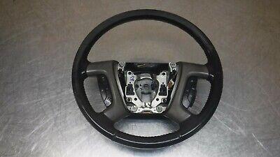 Chevrolet GMC Tahoe Yukon Steering Wheel Black Ebony leather 15917933 07-14