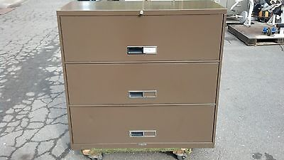 File Cabinet 3 Drawer Lateral 42w Brown Mcdowell Craig We Deliver Locally Ca