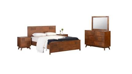 New Delhi King Bedroom Suite 4-piece W/ Dresser + Free Mattress!