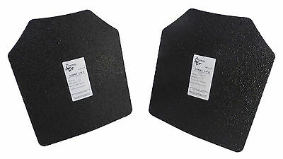 "Pair Level III AR500 Steel Armor Two 10"" x 12"" Plates - Tactical Scorpion"