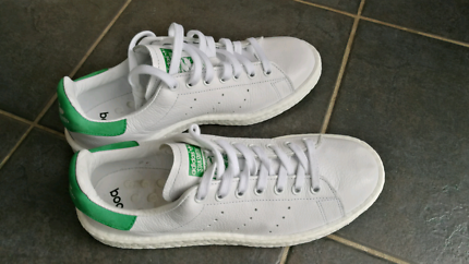 Brand new adidas stan smith boost white and green mens us8