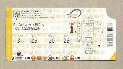 2 (gebruikte) tickets R. Antwerp FC - KV Oostende (17/02/2018 en 29/02/2020)