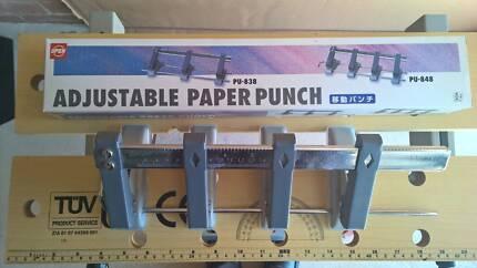 Paper punch adjustable