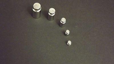 Precision Chrome Calibration Scale Weight Balance 5 Pc Set 1g 2g 5g 10g 20g Gram
