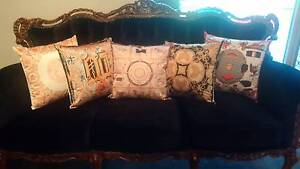 DESIGNER VERSACE HERMES INSPIRED SILK CUSHION PILLOW COVERS Wilson Canning Area Preview