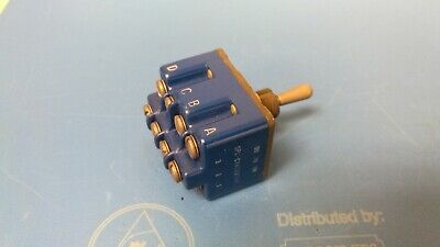 Micro Switch 4tl1-70 Toggle On On 4pdt Round Lever Screw 18a 277vac