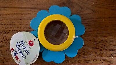 John Crane Wooden Painted Flower Magic Viewer Kaleidoscope Turquoise Blue/Yellow](Magic Paint Kaleidoscope)