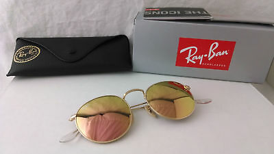 Sonnenbrille ray Ban RB3447N round Metall Gold Kupfer flash 001/z2