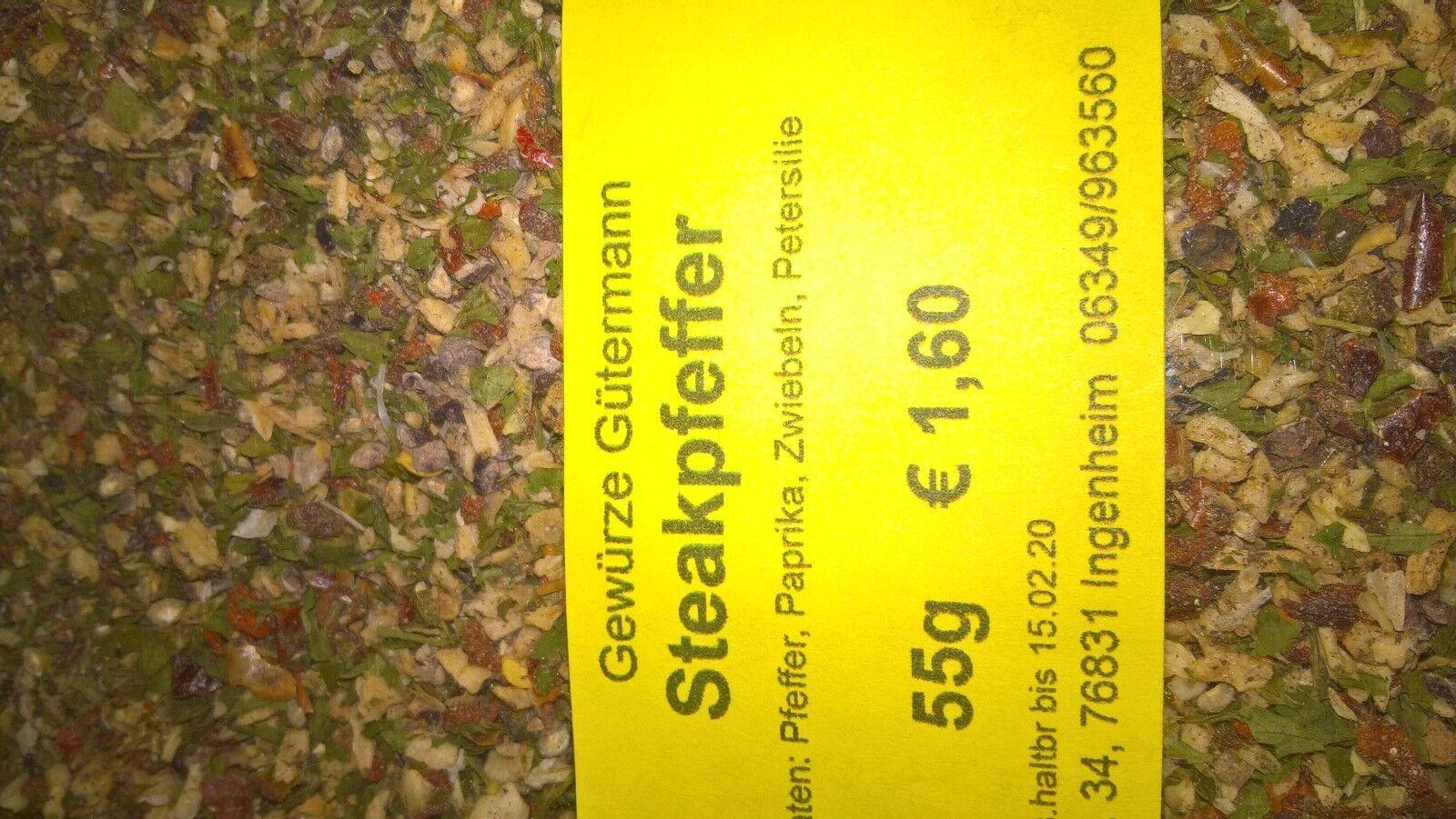 Steakpfeffer Gewürzmischung 55g -OHNE ZUSATZSTOFFE- Gewürze Gütermann