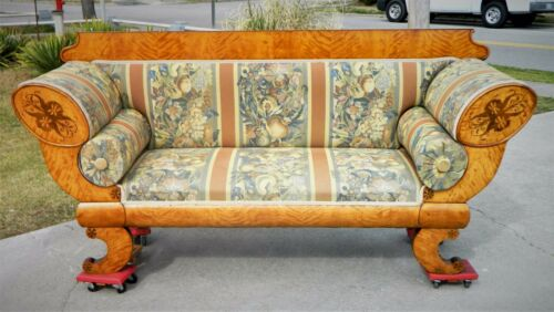 Gorgeous Biedermeier Inlaid Sofa