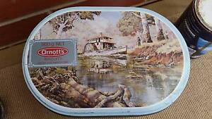 ARNOTT'S 'PADDLE STEAMER', OVAL, 900G. BISCUIT TIN, C.1986 Worongary Gold Coast City Preview