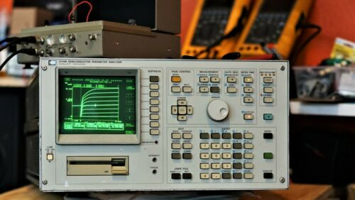 HP 4145B Semiconductor Parameter Analyzer +Fixture +Cable