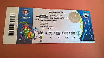 TICKET EURO 2016 : POLOGNE - PORTUGAL MATCH 45