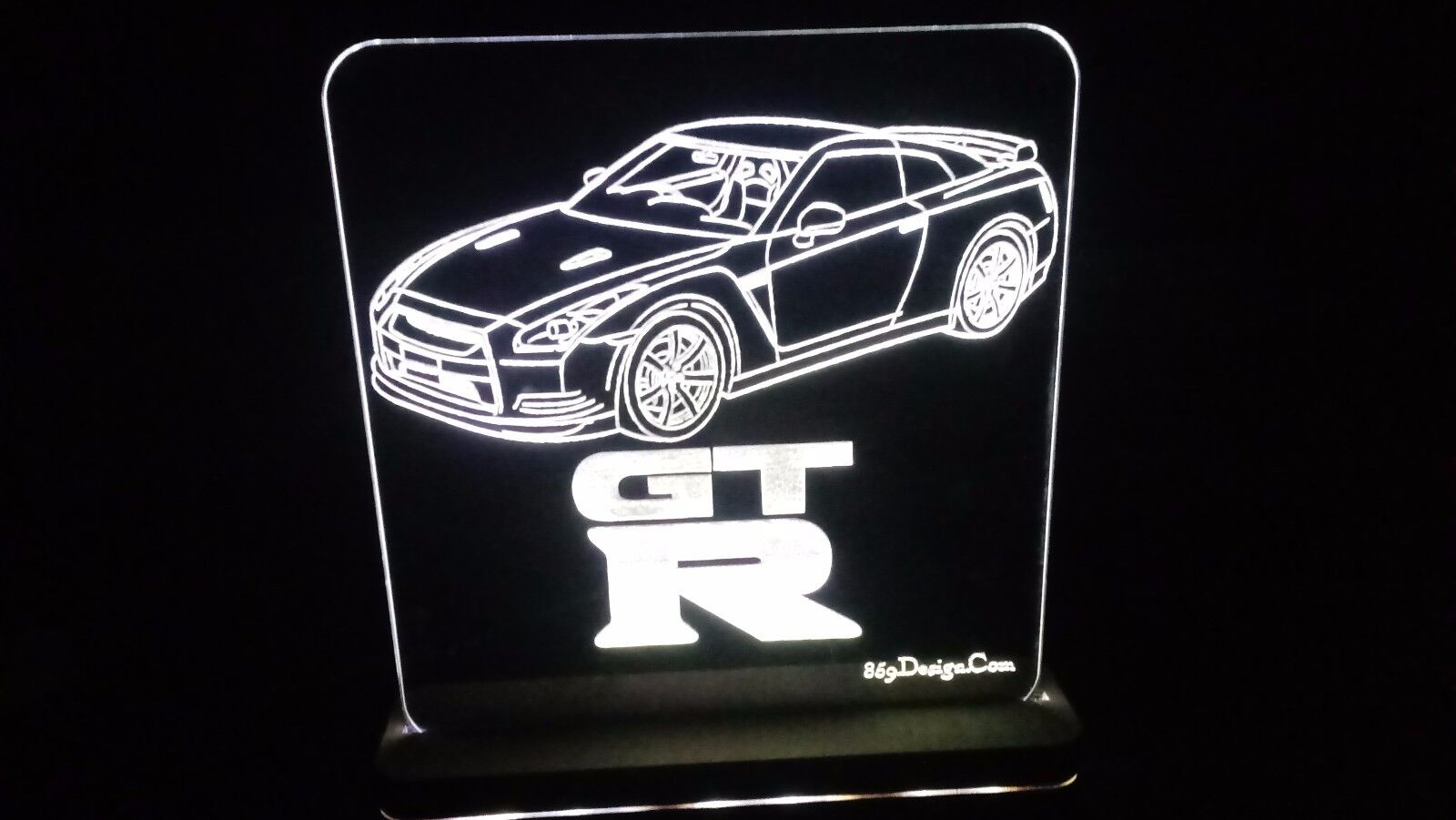Details about R35 Skyline GTR RHD Edge Lit Lighted Sign LED Lamp Acrylic  Neon Glow US Made