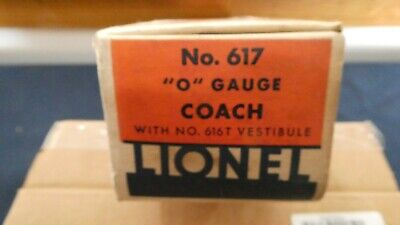 LIONEL 617 FLYING YANKEE PASSENGER CAR ORIGINAL BOX ONLY W/ALL FLAPS INTACT VG