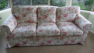 3 Seater Floral Lounge Denistone Ryde Area Preview