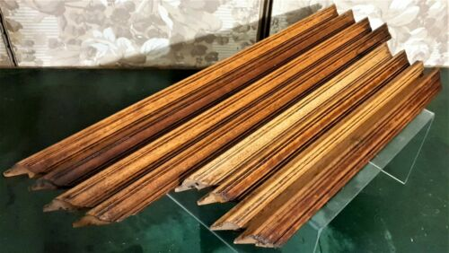 8 Groove wood carving trim frieze pediment Antique french architectural salvage