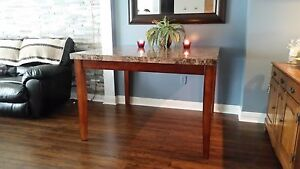 Stone top pub style table