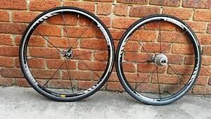 Road bicycle wheels + derailleur Ringwood Maroondah Area Preview
