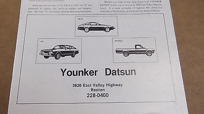 ★★RARE-1979 DATSUN 280-ZX-210-620 TRUCK VINTAGE AD 79 PHOTO Advertisement★★