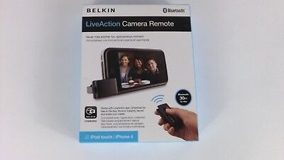 BELKIN LIVE ACTION BLUETOOTH CAMERA REMOTE CONTROL APPLE IPHONE 4 AND IPOD TOUCH